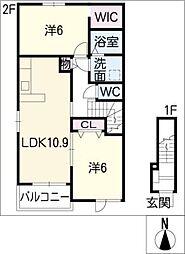 エスポワール・E[2階]の間取り