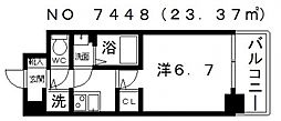 サンセリテ至誠会松崎町[705号室号室]の間取り