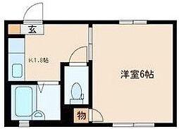 東京都豊島区池袋本町3丁目の賃貸アパートの間取り