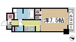 兵庫県神戸市中央区栄町通4丁目の賃貸マンションの間取り