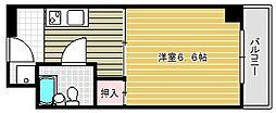 ベルコート茨木[203号室]の間取り