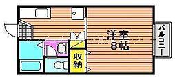 岡山県岡山市南区浦安南町の賃貸アパートの間取り