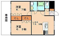 エンプレスHiro[2階]の間取り