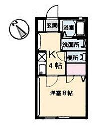 シャルム矢野[1階]の間取り