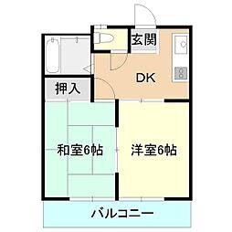 ノグチコーポ[2階]の間取り