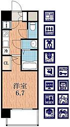 レジュールアッシュ天王寺パークサイド[4階]の間取り
