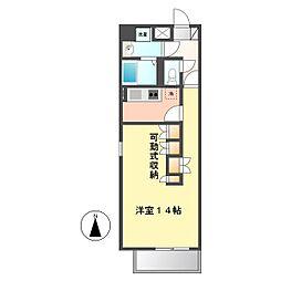 ケースクエア[5階]の間取り