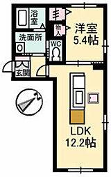 プロムノワール湯田温泉駅前 シャンパーニュ[C101号室]の間取り