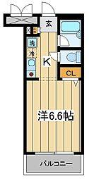 東京都板橋区南常盤台2丁目の賃貸マンションの間取り