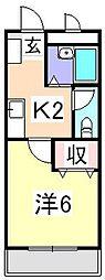 ロジュマン松嶋[2階]の間取り