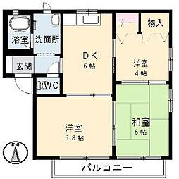 広島県呉市広吉松2丁目の賃貸アパートの間取り
