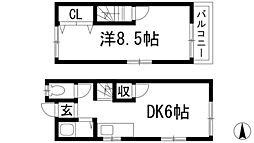 [テラスハウス] 兵庫県川西市加茂1丁目 の賃貸【兵庫県 / 川西市】の間取り