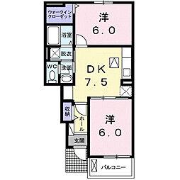 セントラル・エイトA[1階]の間取り