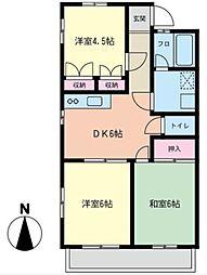 YFシティーアパート[201号室]の間取り