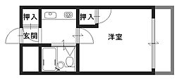 KSピースマンション[102号室]の間取り