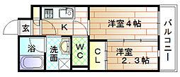 パークハウス自由ヶ丘[1階]の間取り