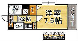 福岡県福岡市博多区千代1の賃貸マンションの間取り