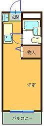 ハイツ東山B[406号室]の間取り