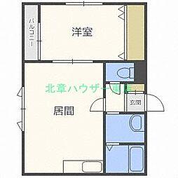 北海道札幌市東区北三十九条東6丁目の賃貸マンションの間取り
