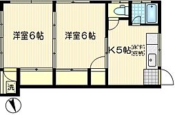 コーポ渡田[201号室]の間取り
