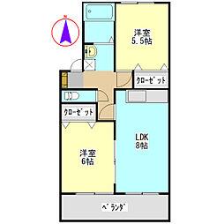 セジュールNA[2階]の間取り