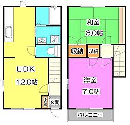 [テラスハウス] 東京都練馬区南大泉5丁目 の賃貸【東京都 / 練馬区】の間取り