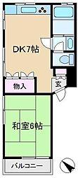 東京都台東区谷中4丁目の賃貸マンションの間取り