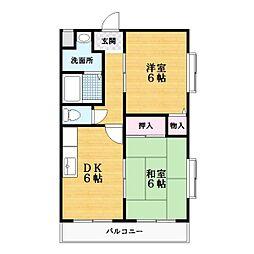 東建マンション[3階]の間取り