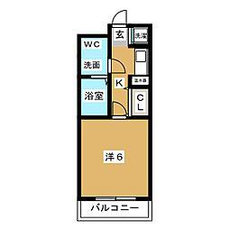 スペーステック松島[6階]の間取り