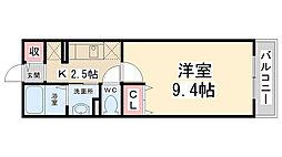 アムール小花[105号室]の間取り