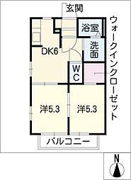 愛知県豊田市本新町2丁目の賃貸アパートの間取り