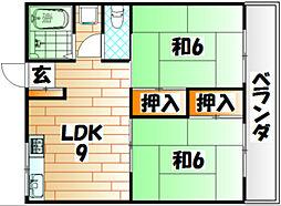 グリーンコート戸畑[4階]の間取り