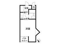 荒井マンション バーミー248[2階]の間取り