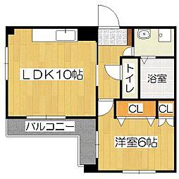 ヤマシナアーバンコテージ[3階]の間取り