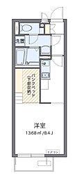 JR横浜線 淵野辺駅 バス14分 馬場十字路下車 徒歩5分の賃貸アパート 2階ワンルームの間取り
