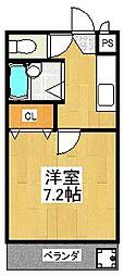 メゾン・オンディーヌ[302号室]の間取り