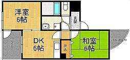 MIZUKI武庫之荘[305号室]の間取り