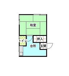 須賀荘[2F5号室]の間取り