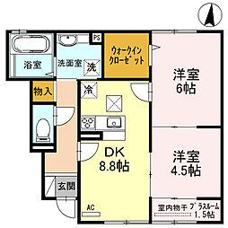 ファミーユKII[102号室]の間取り