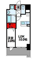 ビリーヴルーム 4階1LDKの間取り