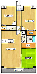 ベルセーヌ亀岡[306号室号室]の間取り