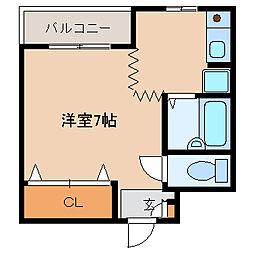 兵庫県尼崎市神田南通1丁目の賃貸マンションの間取り
