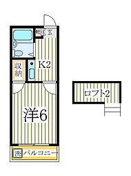 シンセイ2号[1階]の間取り