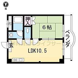 りきゅうハイツ[301号室]の間取り