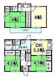 [一戸建] 愛媛県松山市三杉町 の賃貸【/】の間取り