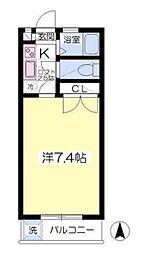 コーンズ松崎[2階]の間取り