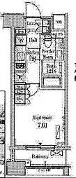 パークアクシス横濱関内SQUARE[302号室]の間取り