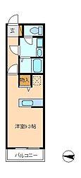 クレフラスト馬橋[1階]の間取り
