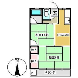 シャトー大塚[305号室]の間取り
