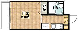 シャルム新城[4階]の間取り